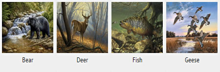 Wildlife Mat Prints